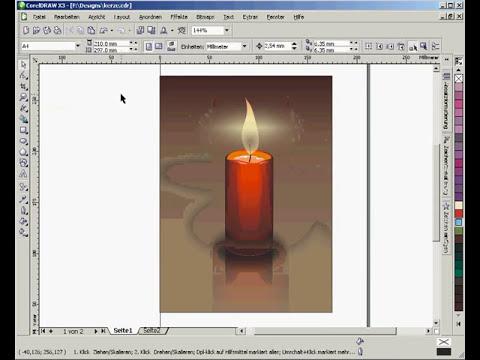 Corel Draw Tutorial - Zeichnen einer Kerze mit Corel Draw X3