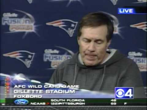 Belichick post game press conference Jan 8 2007