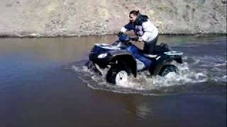 polaris 550xp and honda 680 in water