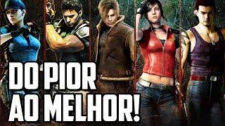 A SAGA RESIDENT EVIL DO PIOR AO MELHOR GAME!