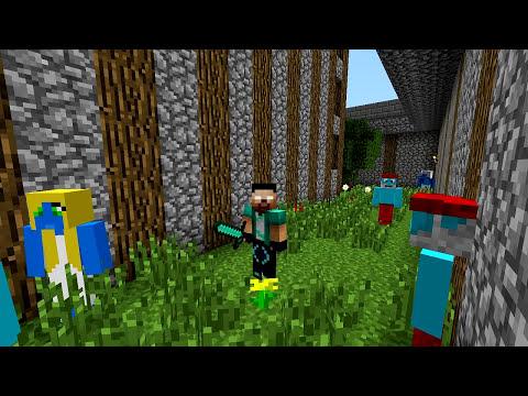 Minecraft Mods - MORPH HIDE AND SEEK - SMURFS MOD