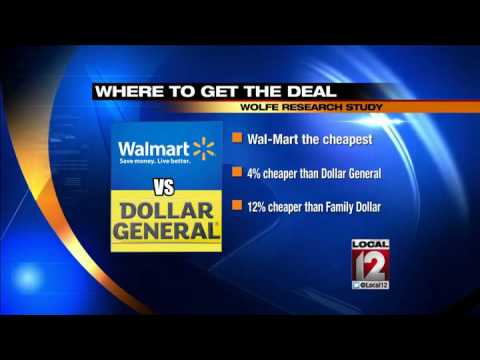 WSJ study shows Wal-Mart cheaper than dollar s