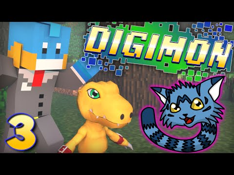 our First Digimon!? Minecraft - Digimon Modded Adventure! - Ep #3 video