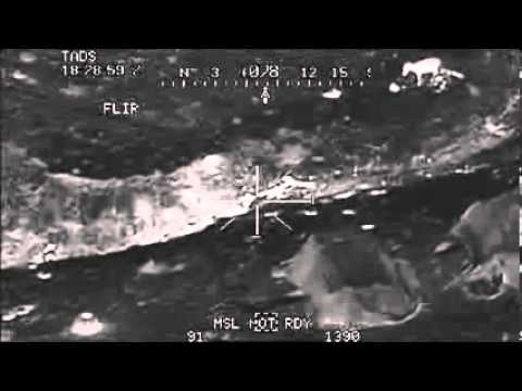 Warning Graphic  2 Apache Helicopters Engage a Platoon of Taliban