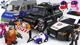 Villain Joker showed up at jewelry store! Super Wings and Playmobil Police commandos! #DuDuPopTOY