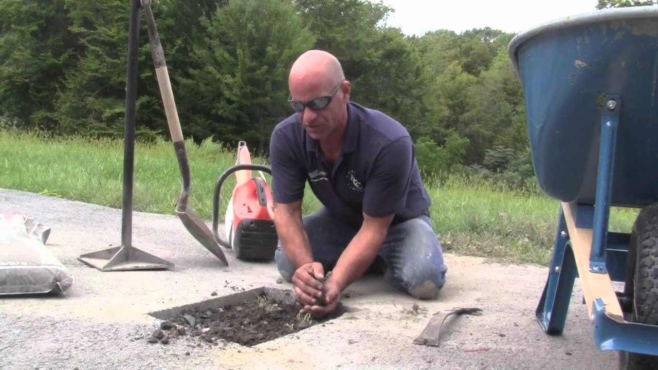 How To Patch A Hole In Your Driveway Blacktop Youtube