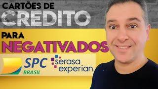 💳 CARTÕES DE CRÉDITO PARA NEGATIVADOS NO SPC/SERASA, MEU PAG E SANTANDER, estes parcelam. Video 2