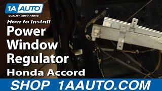 How To Install Repair Replace Power Window Regulator Honda Accord 98-02 1AAuto.com