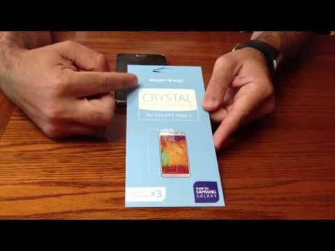 How to install SPIGEN screen protector on the Samsung Galaxy Note 3