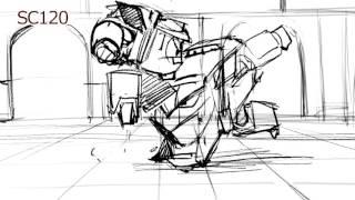 "Storyboard portfolio- TV animation - ""Robot train"""