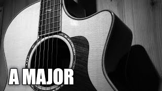 Soft Acoustic Rock Guitar Backing Track In A Major