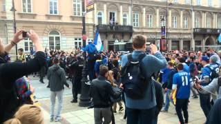 Dnipro fans in Warsaw - 2015 Europa League Final Video