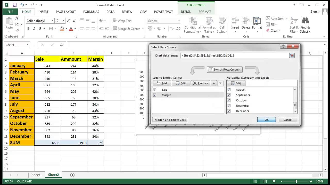 8 1 Basic Excel Tutorial - Charts Functions