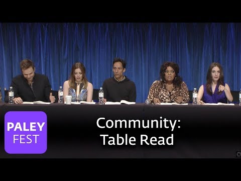 Community - The Cast Does a Table Read