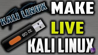 how to run kali linux through pendrive/USB ??