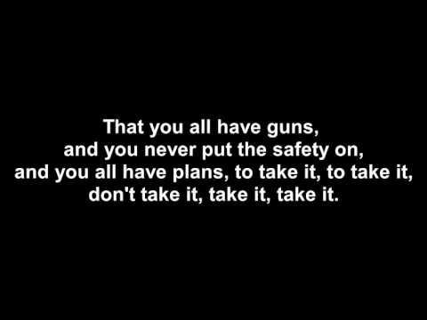 Guns for hands - Twenty one pilots (Lyrics!)