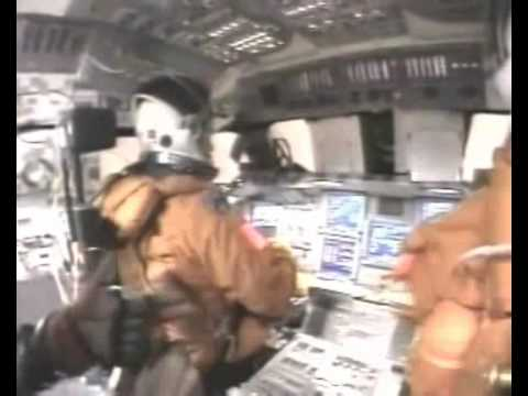 Subtitled COCKPIT Last taped moments Shuttle Columbia ACCIDENT...