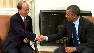 President Obamas Bilateral Meeting with President Thein Sein of Myanmar