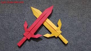 ORIGAMI - Gấp Cây Kiếm Bằng Giấy    Origami Sword