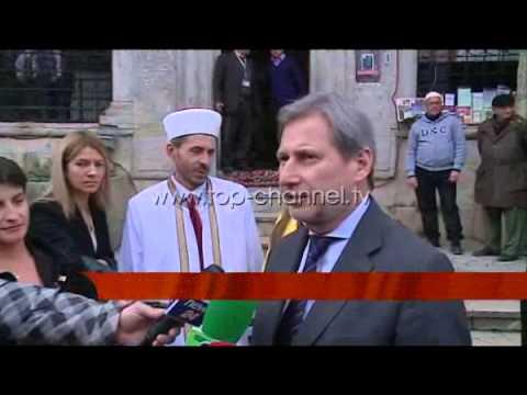 Komisioneri Hahn në Tiranë - Top Channel Albania - News - Lajme