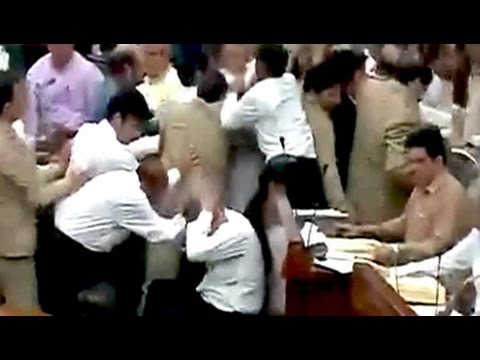 Brawl in Jammu and Kashmir assembly between opposition, ruling lawmakers