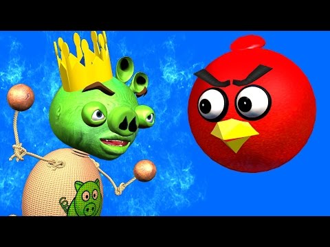 ANGRY BIRDS & BUDDYMAN KICK: Kick The Pig ♫ 3D animated  movie mashup  ☺ FunVideoTV - Style ;-))