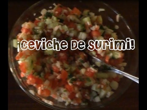 ¡Receta Fácil, Sencilla y Barata! Ceviche De Surimi  ♡