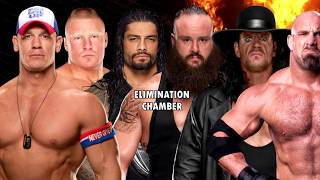 John Cena v Brock Lesnar v Roman Reigns v Braun Strowman v The Undertaker v Goldberg   WWE 2K17 ELIM