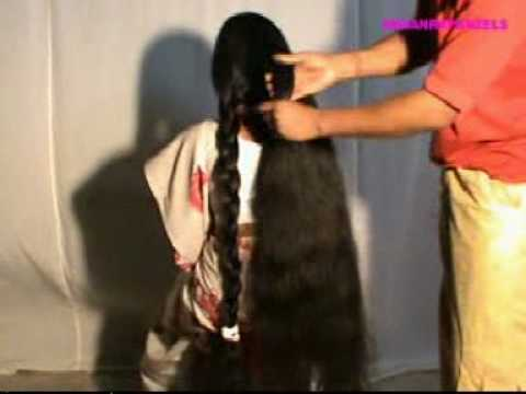 indianrapunzels.com--knee length hair play 2 - YouTube