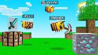 Playing MINECRAFT As BEES? (hilarious)