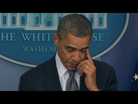 President Obama weeps over Connecticut school massacre