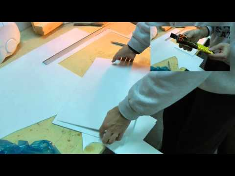 Propmaking Costuming Cosplay tutorial - 02 Sintra/Forex