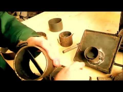 Печь самодельная длительного горения Hot Master 5 / Варим печь / Long burning stove make ourselves