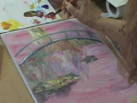 Learn how to paint with acrylics impressionist technique for Learn to paint with acrylics