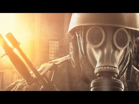 'Gas Mask' Dramatic Color Composite Image Speed Retouch