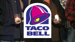 Vigil Held for Taco Bell That Burned to the Ground