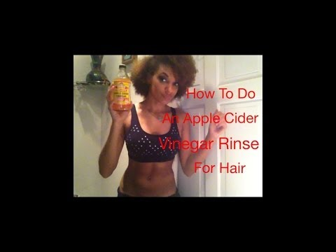 How To Do An Apple Cider Vinegar Rinse for Hair
