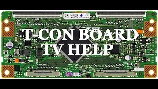 LCD TV Repair Tutorial - T-Con Board Common Symptoms & Solutions - How to Replace T-Con Board