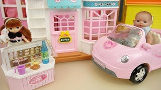 Baby doll and kitty shop house toys play