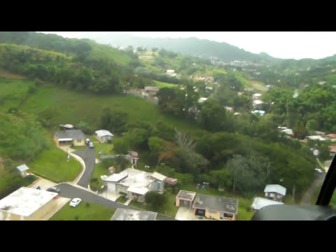 Beautiful helicopter ride in Barranquitas, Puerto Rico + (UFO sighting at 1:15)