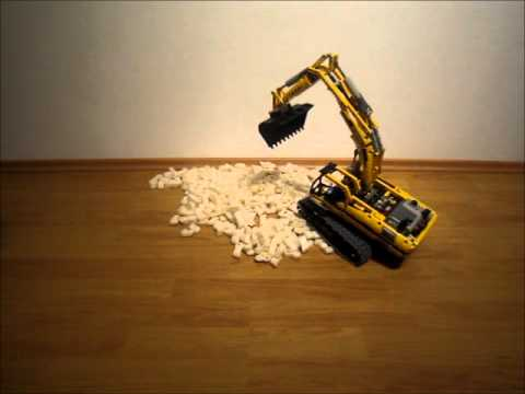 Lego 8043 Motorisierter Raupenbagger (Motorized excavator) - unpacking and assembling