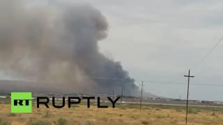 Мощный взрыв прогремел на оружейном заводе в Азербайджане, есть раненые
