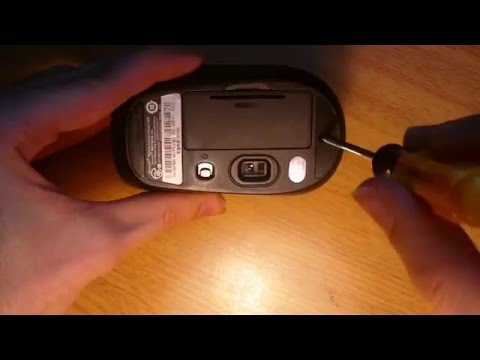 How to disassemble Microsoft Wireless Mobile Mouse 1000