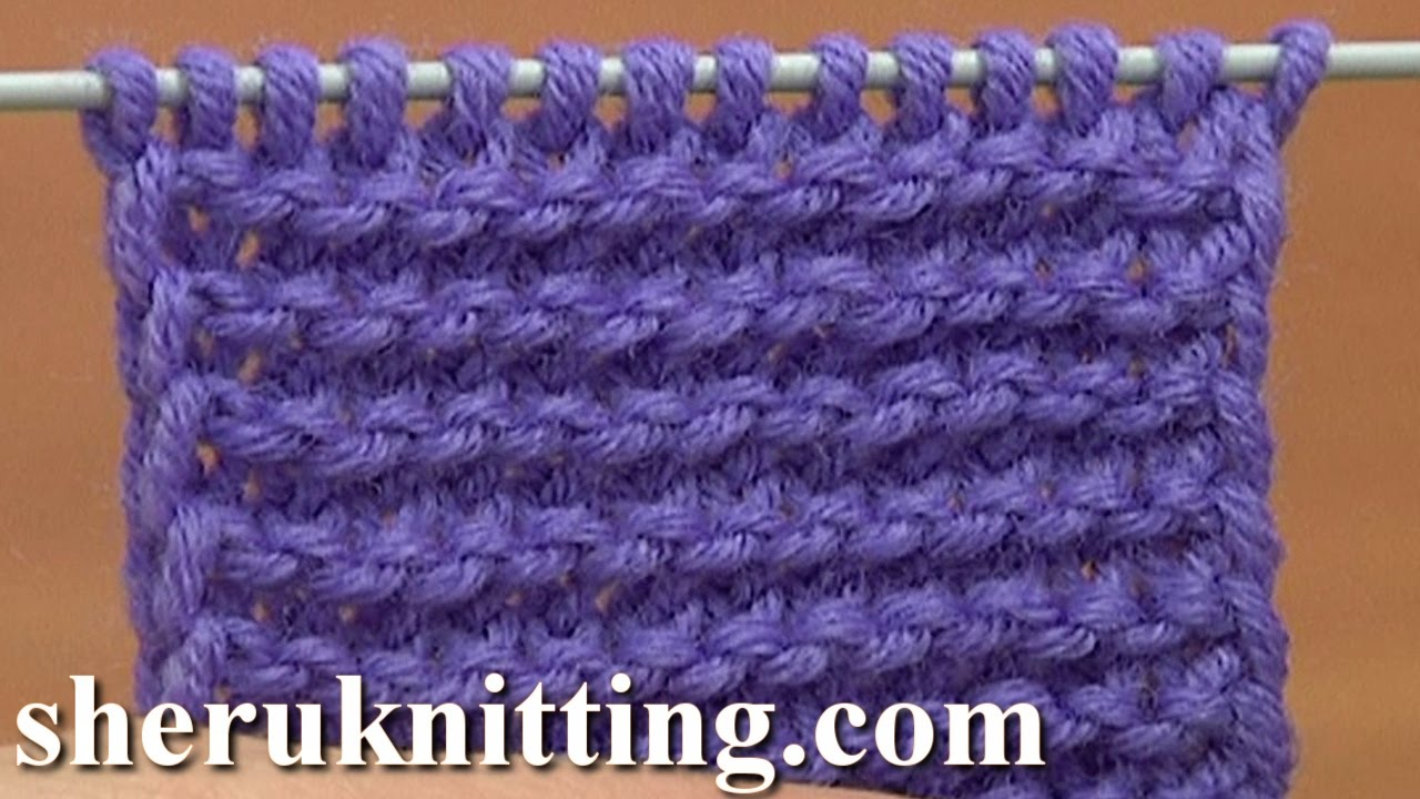 Knitting Garter Stitch Right Side : Knit The Garter Stitch of Twisted Loops Tutorial 6 Part 2 of 4 Way to Knit Th...