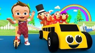 Finger Family Nursery Rhymes for Kids - Little Baby Learn Monkey Toy Finger Family Song for Children