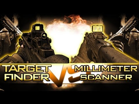 "BO2 ""Target Finder vs Millimeter Scanner"" Which is more NOOBY? (Black Ops 2 Attachments)"