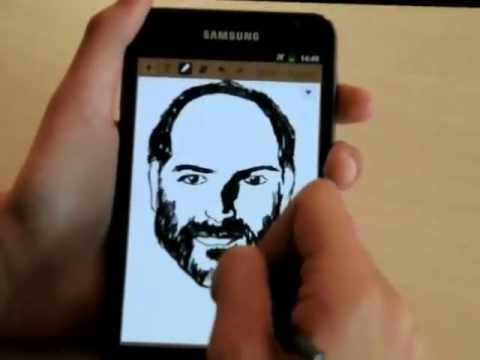 Steve Jobs Speed-Drawing | Samsung Galaxy Note | Youth Arabia