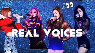 BLACKPINK REAL VOICES !!! (each members)