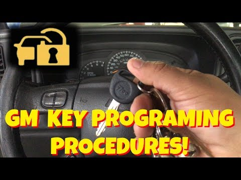 HOW TO PROGRAM A GM/CHEVY CODED/ANTI THEFT KEY FOR  FREE! SAVE MONEY!!!