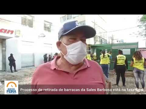 Processo de retirada de barracas na Sales Barbosa está na fase final